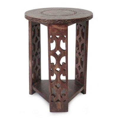 Serbelloni Strength and Humility Wood End Table