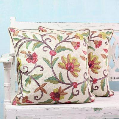 Pendle Royal Indian Peony 100% Cotton Pillow Cover