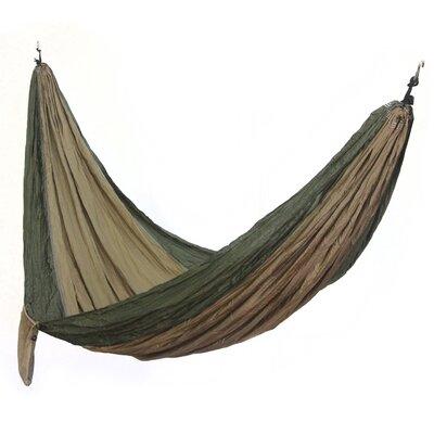 Charly Artisan Putu Oka Mahendra Parachute Nylon Camping Hammock Color: Jade Dreams