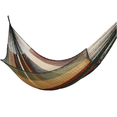 Maya Artists of the Yucatan Artisan Nylon Tree Hammock Color: Mother Earth