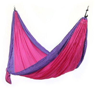 Charly Artisan Putu Oka Mahendra Parachute Nylon Camping Hammock Color: Berry Sorbet