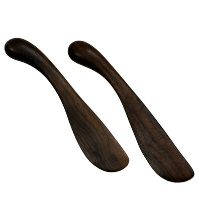 Peten Wood Artisan Sculptors Peten Delicatessen Wood Spreaders (Set of 2)
