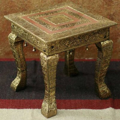 Golden Garland End Table