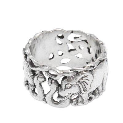 Novica The Nyoman Rena Men's Sterling Silver Band Ring - Size: 11 at Sears.com