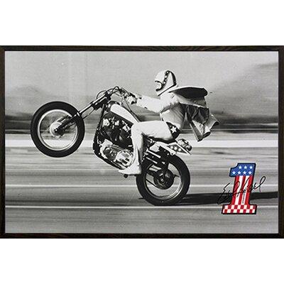 'Evel Knievel - Wheelie' Framed Photographic Print Poster 22044-PSA010235