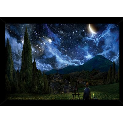 'Starry Night' Framed Graphic Art Print, Poster 24508-PSA010590