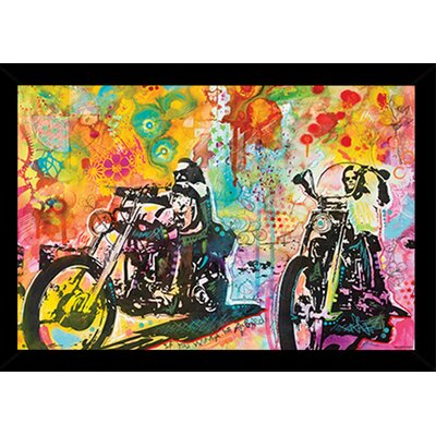 'Easy Rider' by Dean Russo Framed Graphic Art Print Poster Format: Black Wood Framed