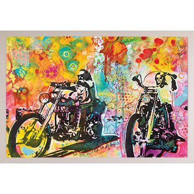 'Easy Rider' by Dean Russo Framed Graphic Art Print Poster Format: White Framed