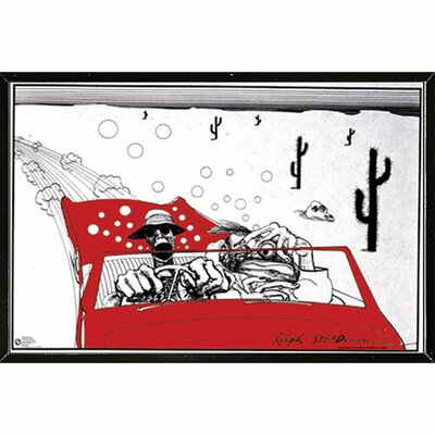 'Fear & Loathing' by Ralph Steadman Framed Graphic Art Print Poster
