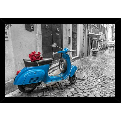 'Scooter' Horizontal Wood Framed Photographic Print Poster