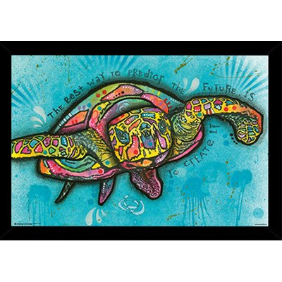 'Turtle' Wood Framed Graphic Art Print Poster