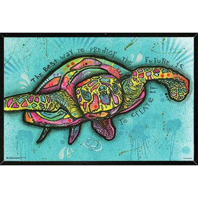 'Turtle' Framed Graphic Art Print Poster