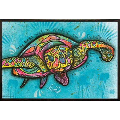 'Turtle' Horizontal Framed Graphic Art Print Poster