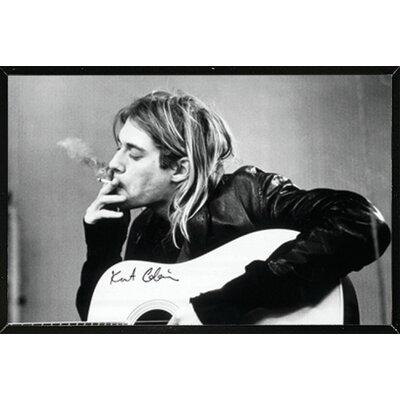 'Kurt Cobain Smoking' Framed Graphic Art Print Poster HOBX9535 40108807