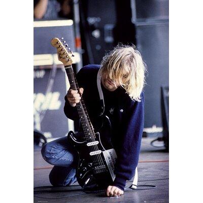 'Kurt Cobain Guitar' Framed Graphic Art Print Poster HOBX9602 40108874