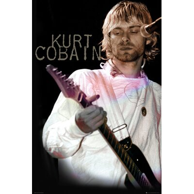 'Kurt Cobain - Cook' Framed Graphic Art Print Poster HOBX9601 40108873
