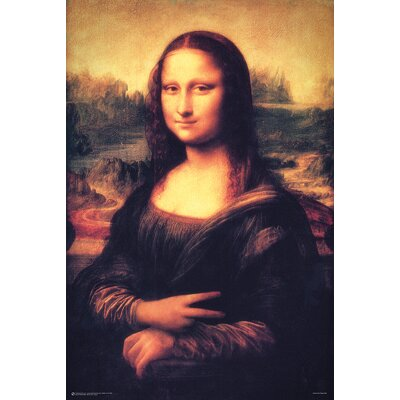 'Mona Lisa - Peace' Graphic Art Print Poster