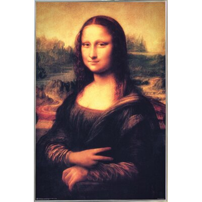 'Mona Lisa - Peace' Metal Framed Graphic Art Print Poster