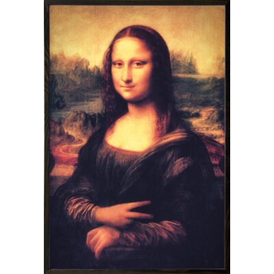 'Mona Lisa - Peace' Walnut Wood Framed Painting Print Poster
