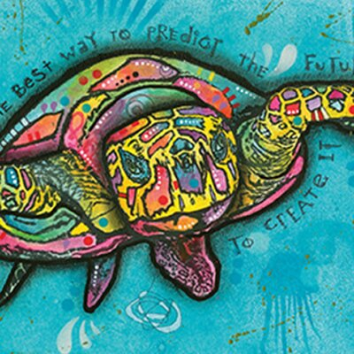 'Turtle' Horizontal Framed Graphic Art Print Poster Format: Black Framed