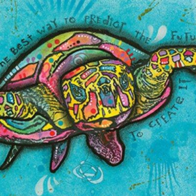 'Turtle' Horizontal Framed Graphic Art Print Poster Format: Black Wood Framed