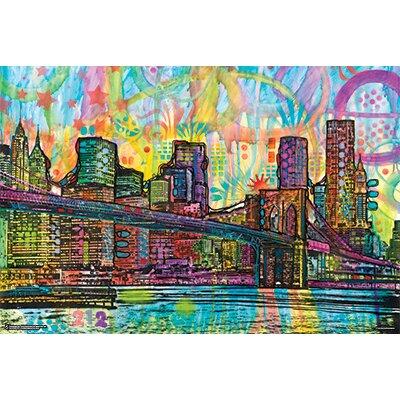 'Brooklyn Bridge' Rectangle Graphic Art Print Poster