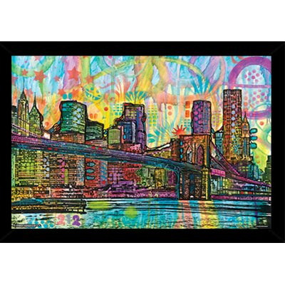 'Brooklyn Bridge' Framed Graphic Art Print Poster