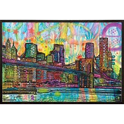 'Brooklyn Bridge' Wood Framed Graphic Art Print Poster