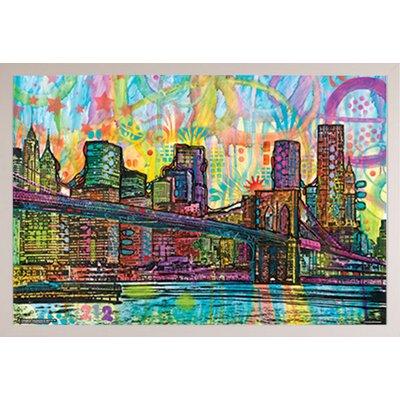 'Brooklyn Bridge' Rectangle Framed Graphic Art Print Poster