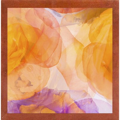 'Rosas Compo 5' Graphic Art Print Format: Affordable Canadian Walnut Medium Framed Paper, Size: 12.6