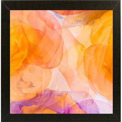 'Rosas Compo 5' Graphic Art Print Format: Affordable Brazilian Walnut Medium Framed Paper, Size: 12.6