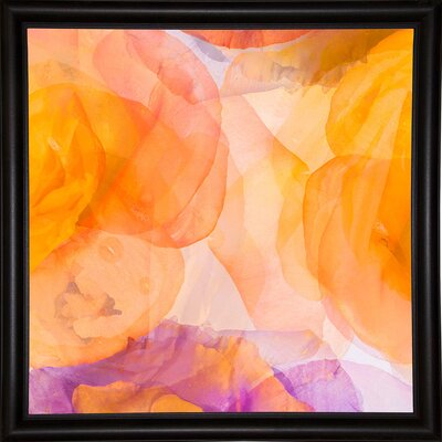'Rosas Compo 5' Graphic Art Print Format: Bistro Espresso Framed Paper, Size: 12.6