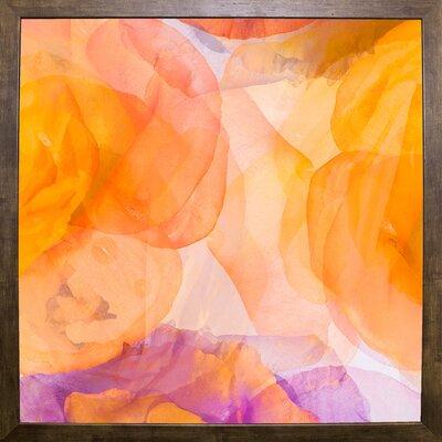 'Rosas Compo 5' Graphic Art Print Format: Cafe Mocha Framed Paper, Size: 12.6
