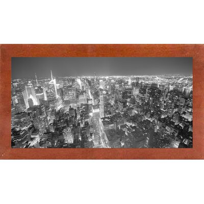 'Gotham City 14 2' Photographic Print Format: Affordable Canadian Walnut Medium Framed Paper, Size: 22.5