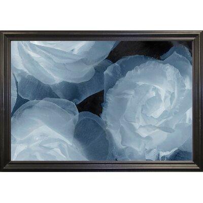 'Rosas Azules 2' Graphic Art Print Format: Black Grande Framed Paper, Size: 20