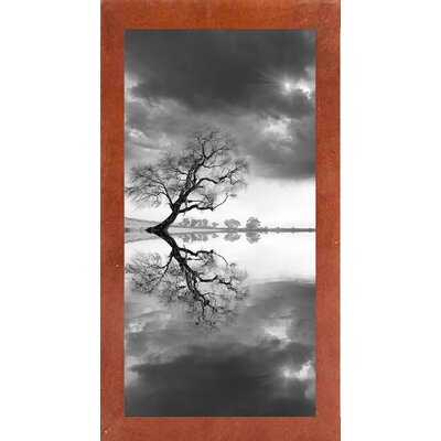 'New Beginning Reflect' Photographic Print Format: Affordable Canadian Walnut Medium Framed Paper