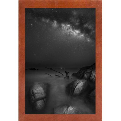 'Milky Way Huatulco 2' Graphic Art Print Format: Affordable Canadian Walnut Medium Framed Paper, Size: 35.4