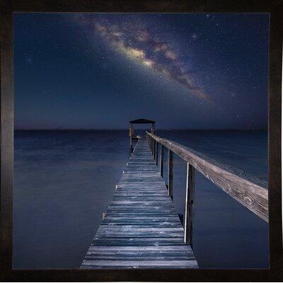 'Milky Way Format: Affordable Black Medium Framed Paper, Size: 35.4