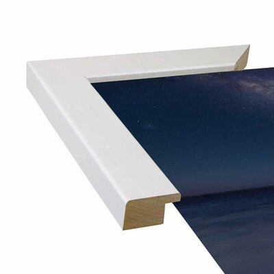 'Milky Way Format: Affordable White Medium Framed Paper, Size: 35.4