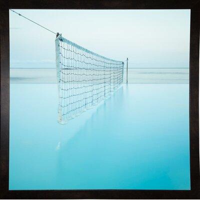'Net at Pool' Photographic Print Format: Affordable Black Medium Framed Paper