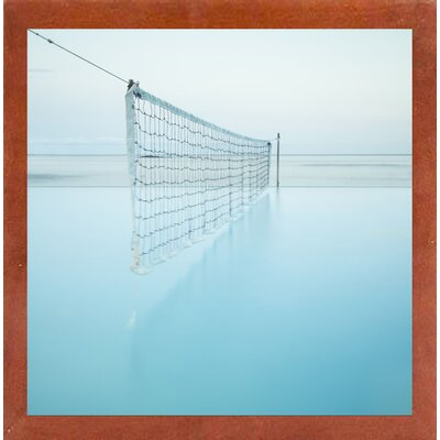 'Net at Pool' Photographic Print Format: Affordable Canadian Walnut Medium Framed Paper