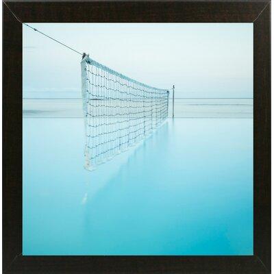 'Net at Pool' Photographic Print Format: Affordable Brazilian Walnut Medium Framed Paper