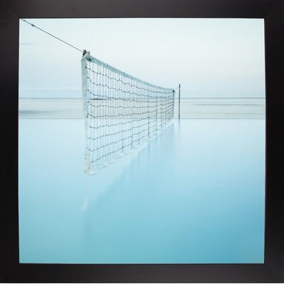 'Net at Pool' Photographic Print Format: Affordable Black Large Framed Paper