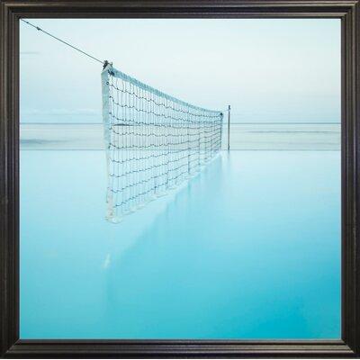 'Net at Pool' Photographic Print Format: Black Grande Framed Paper