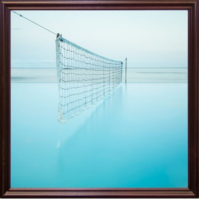 'Net at Pool' Photographic Print Format: Cherry Grande Framed Paper