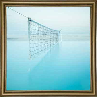 'Net at Pool' Photographic Print Format: Bistro Gold Framed Paper