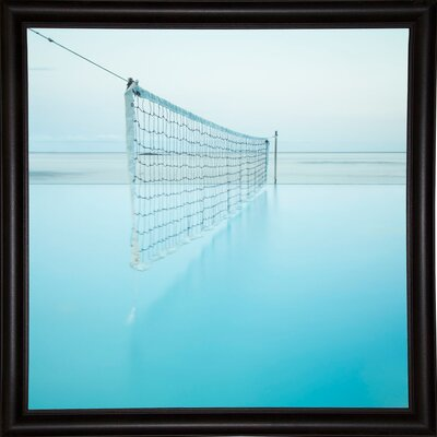 'Net at Pool' Photographic Print Format: Bistro Espresso Framed Paper