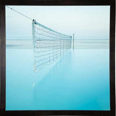'Net at Pool' Photographic Print Format: Cafe Espresso Framed Paper