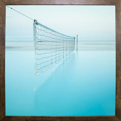 'Net at Pool' Photographic Print Format: Cafe Mocha Framed Paper