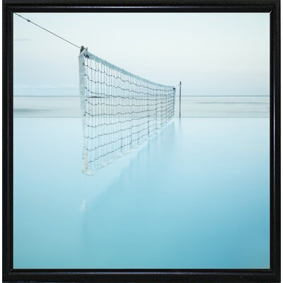 'Net at Pool' Photographic Print Format: Flat Back Metal Framed Paper